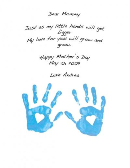 What the Handprints Craft will look like