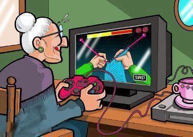 funny modern grandmother