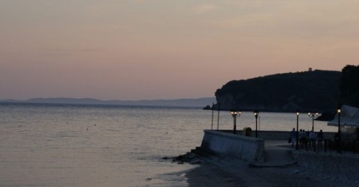 Just as the light fades over Parga bay a totally different tranquil atmosphere sets in.