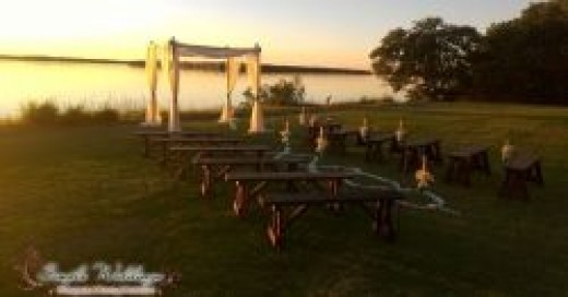 Waterfront wedding ceremony at Tampa Bay Watch