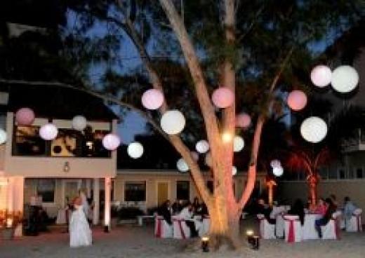 Wedding reception at the Sunset Beach House wedding venue near St Petersburg, FL