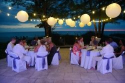 Wedding reception at Coquina Haven Beach House on Indian Rocks Beach, FL