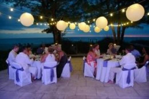 Wedding reception at Coquina Haven Beach House on Indian Rocks Beach, FL