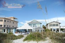 Wedding reception at Serendipity Beach House near St Petersburg, FL