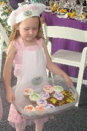 Abby age 4, auctioned off homemade cupcakes for $2000!