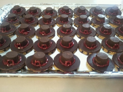 For Thanksgiving 2012, Abby made pilgrim hat cookies and brought them to the boys Thanksgiving dinner at One Hope United.