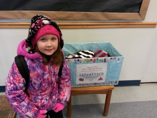 Abby held a hat and glove drive at school this winter to collect new items needed for families served by One Hope United in our community.