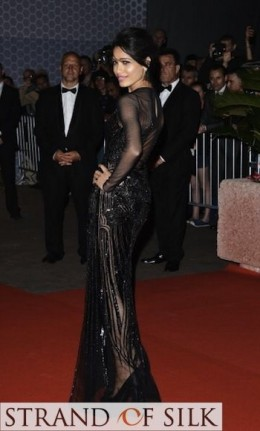 Evening on the Red Carpet - Black Sequined Elegance