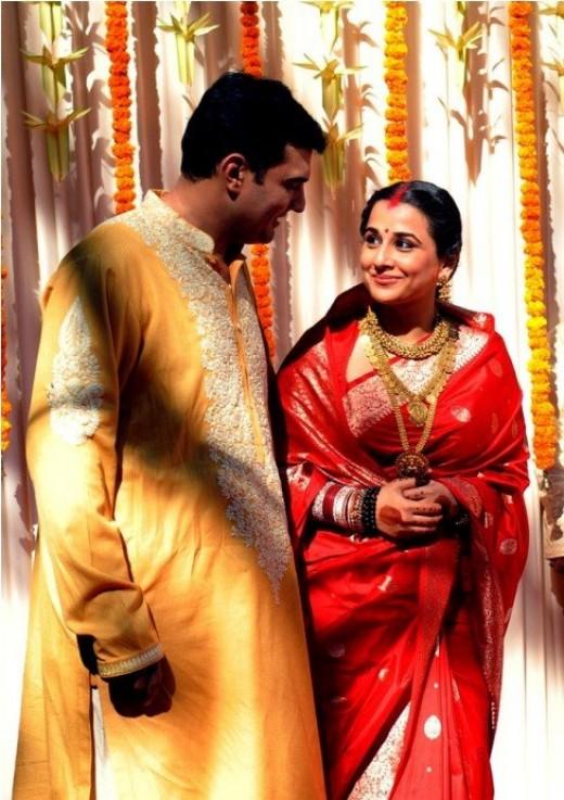 Vidya Balan Wedding Saris