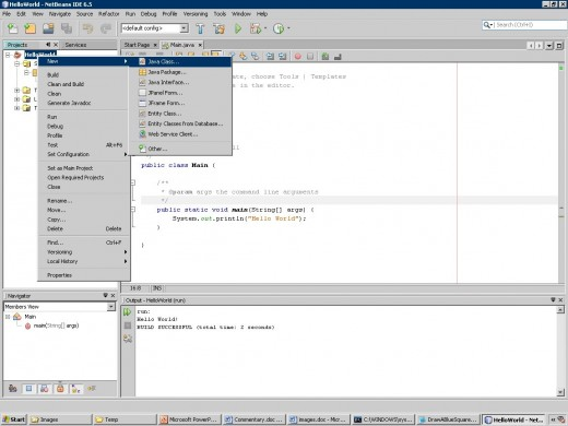 Step 6 - Add an empty class to the project
