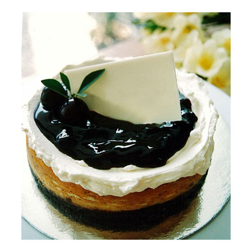 A scrumptious blueberry cheese cake