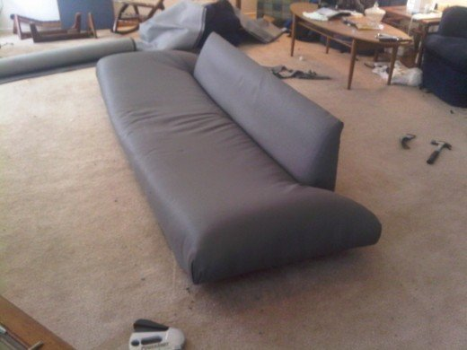 almost done with couch recovering