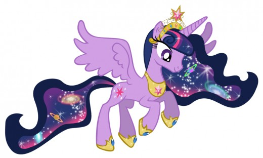 Acting on her cartoon again! This time she is the Keeper of Harmony, and it looks like there's magic in her mane!