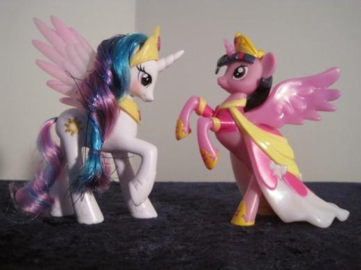 MLP's Princess Twilight Sparkle and Friendship is Magic Nite Friends.