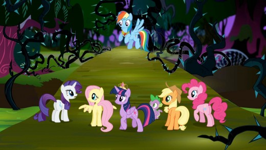 The whole My Little Pony gang as seen on television!