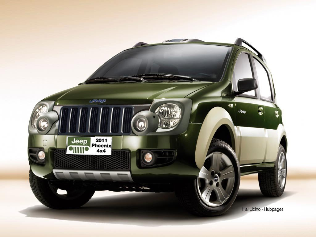 revealed 2011 jeep phoenix based on fiat panda 4x4 hubpages. Black Bedroom Furniture Sets. Home Design Ideas