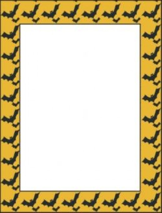 Halloween Invitation Bats Border