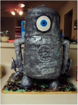 The Giant Robot Cake from Monsters vs Aliens!!!! He is not Papier mache, but I was proud of him so here is his pic!