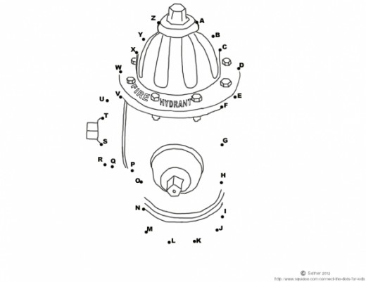 Free Printable Dot To Dot Activity For Kids Fire Hydrant