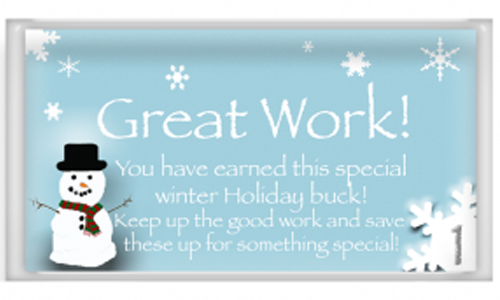 Free Printable Winter Holiday Rewards With a Snowman