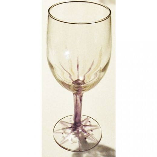 How to paint wine glasses feltmagnet for How to make painted wine glasses