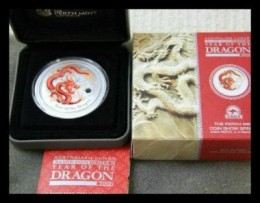 ANDA Perth 2 ounce special release colored lunar dragon