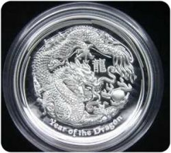 Perth Mint High Relief Silver Dragon Proof