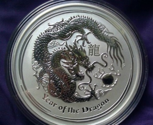 Simple 10 ounce Australian Lunar Dragon Coin
