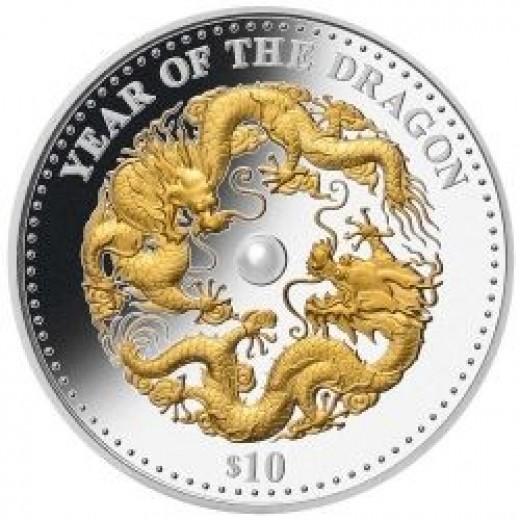 Fiji Dragon Pearl Lunar Silver Coin