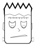 blank halloween coloring pages - photo#40