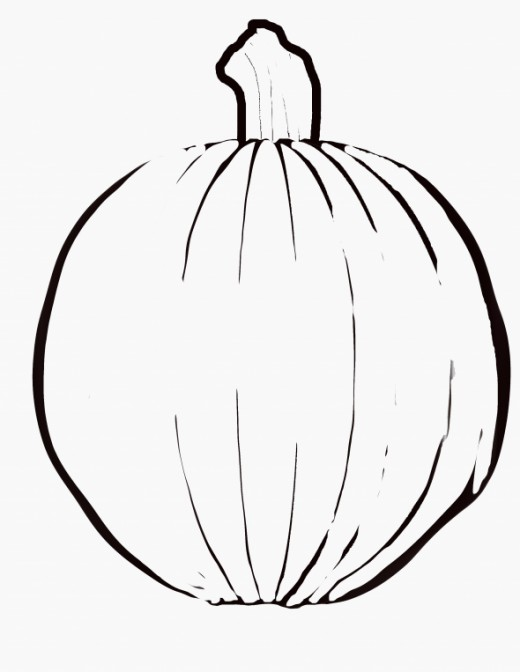Free Halloween Pumpkin Coloring Page : Add your own Face!