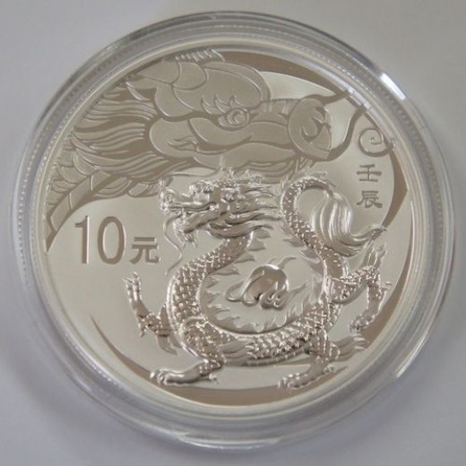 2012 Chinese Silver Dragon Proof
