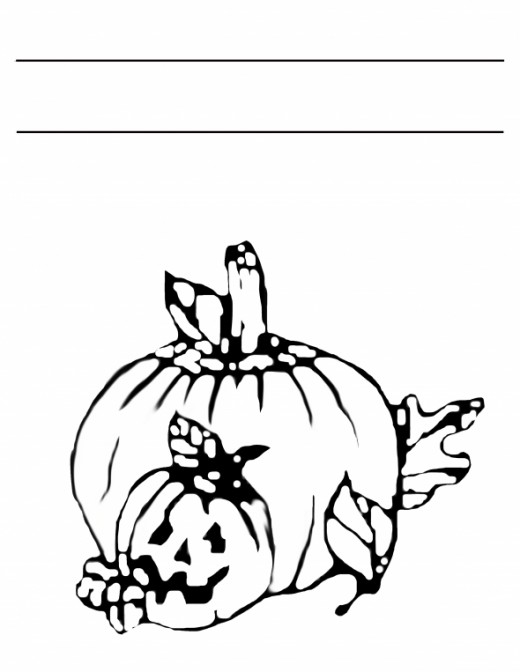 Free Printable Pumpkins Coloring Page