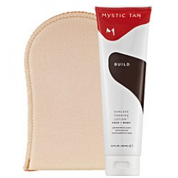 Company Product Description:  Mystic Tan Sunless Tanning Lotion™ Face + Body creates smooth, even color that lasts about a week—no damaging UV rays required!