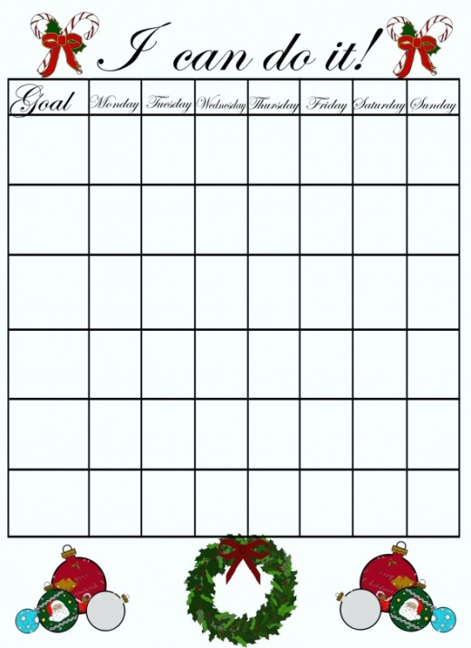 Free print-out holiday behavior chart.