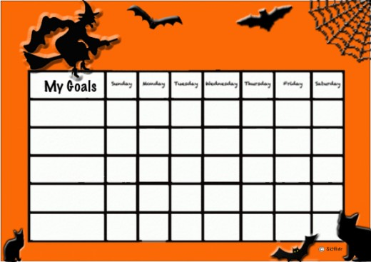 Halloween behavior chart.