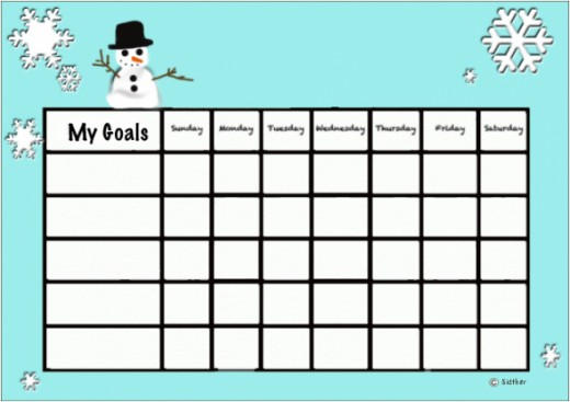 This free print-out frosty behavior chart was created in Photoshop.