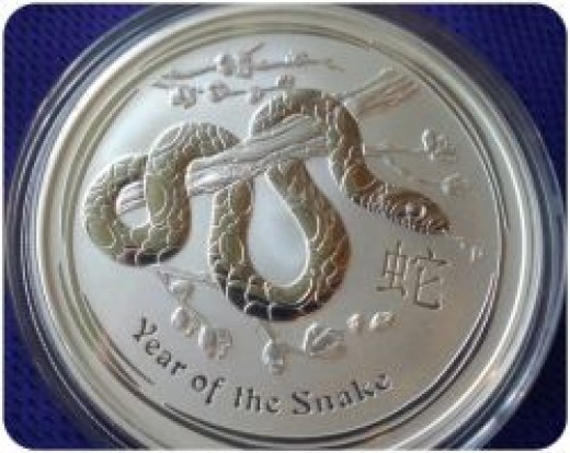 2013 Australia Perth Mint Lunar Snake Silver Coin