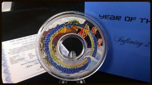 2013 Tokelau INFINITY SNAKE Lunar Year Coin