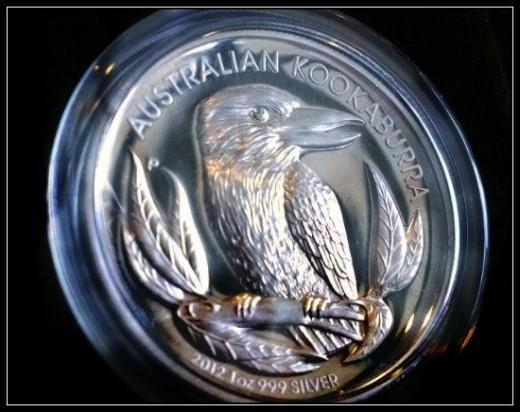2012 High Relief Silver Kookaburra Coin
