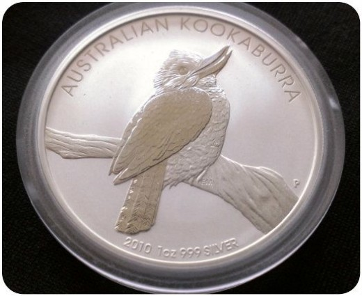 2010 Silver Australian 1 Ounce Kookaburra