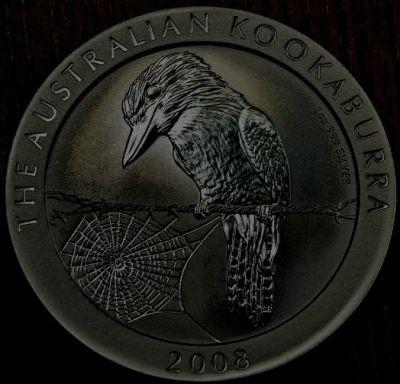 Uniquely Toned 2008 Silver Kookaburra