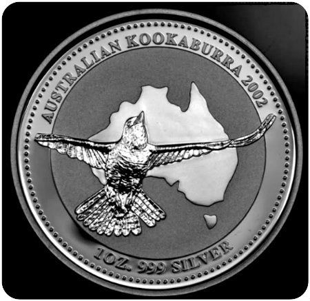 2002 Australian Silver Kookaburra