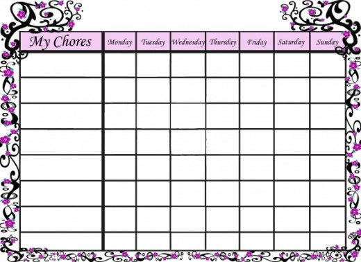Free printable Sakura chore chart for your little girl