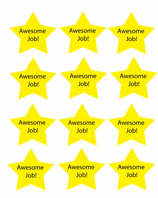 Free printable chore charts that teach responsibility for Images of stars for kids