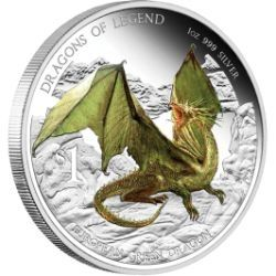 Dragons of Legend - European Green Dragon 2013 1 oz Silver Proof Coin