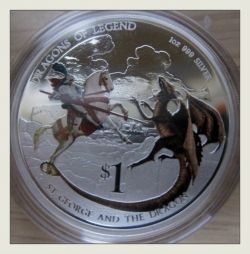Dragons of Legend St George Dragon Coin Reverse