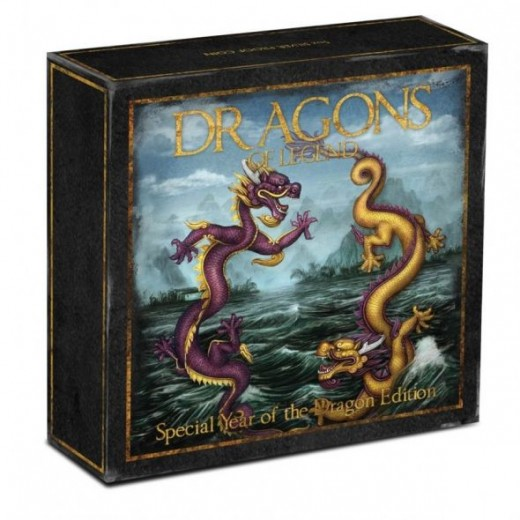 2012 Australia Perth Mint Dragons Of Legend 5 oz Chinese Dragon Coin Box