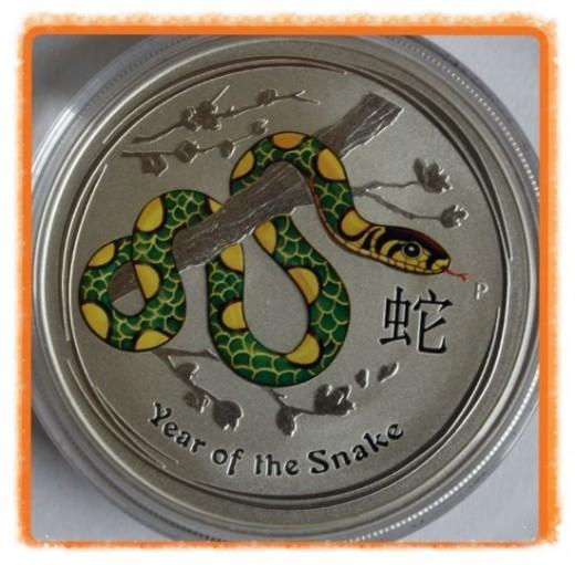 Australia 2013 Colorized Lunar Silver Snakes