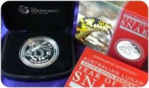 2013 Australia Perth Mint Silver Proof Snake